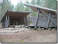 Wooden Lean-To Shelter