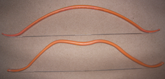 Various shapes of recurve bows