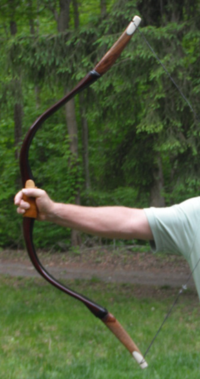 Bow shape of bow that has been drawn and is ready to shoot