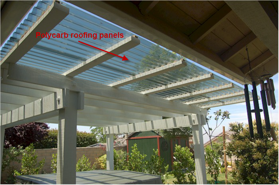 Polycarb roofing panels