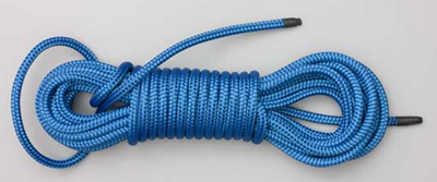 Tying paracord hank into a coil for storage