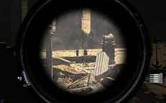 Looking through a sniper's scope