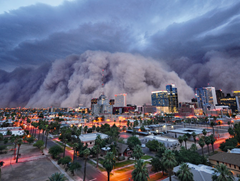 Heat wave causes giant dust storm