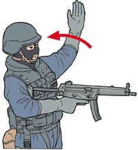 Hand signal for come