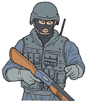 Hand signal for breach or breacher