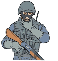 Hand signal for hostage