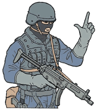Hand signal for pistol weapon