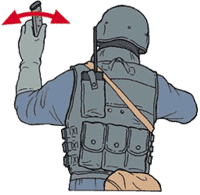 Hand signal for ammunition