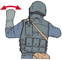 Hand signal for vehicle