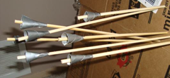 Blowgun dart made from bamboo skewers and duct tape (for the fletch)
