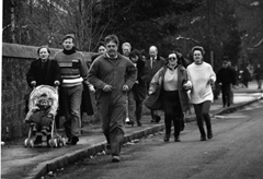 Parents rush to the Dunblane school after hearing about the shooting
