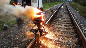 Goldschmidt process - using thermite reaction to weld