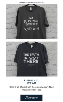 Get your Survival T-Shirts at IAP