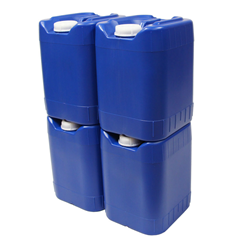 Stackable 5-gallon water storage containers
